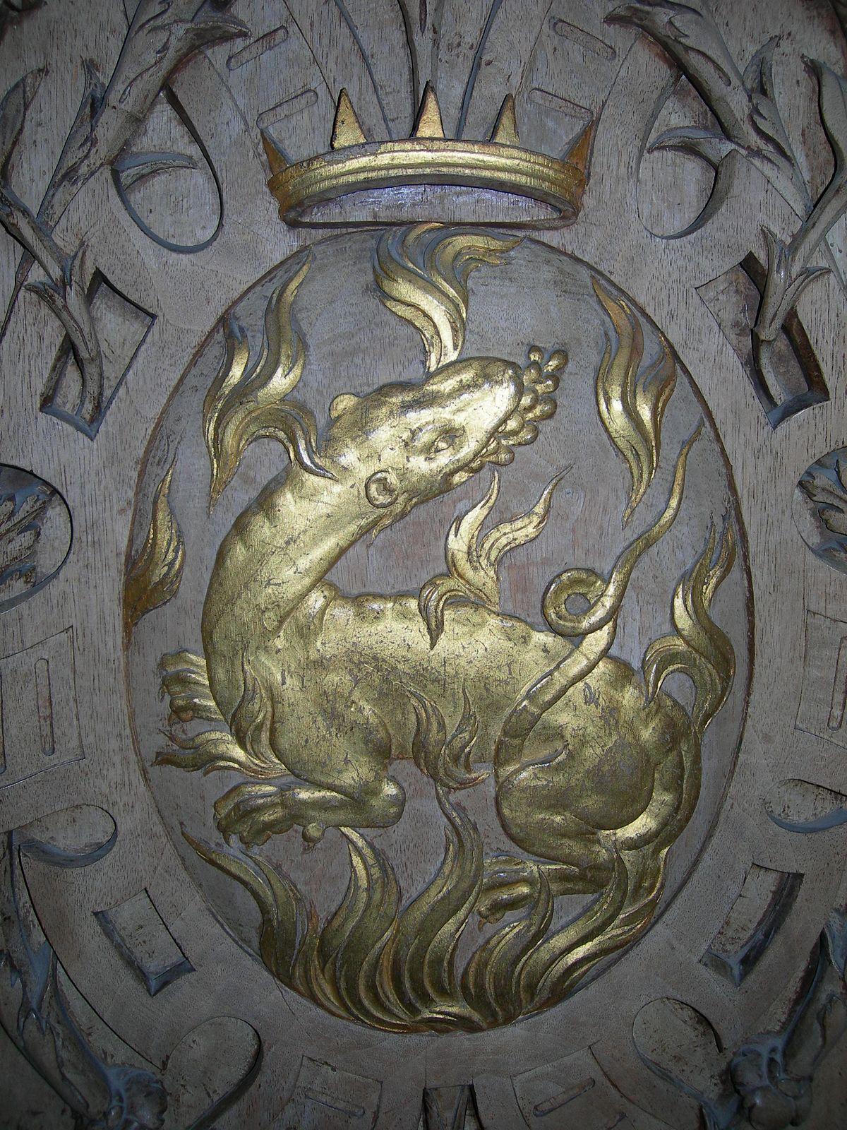 Salamandre galerie françois premier chateau fontainebleau