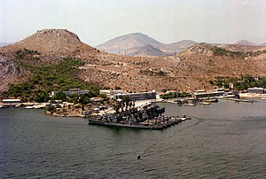 Salamis Naval Base with former USN destroyers 1979.JPEG
