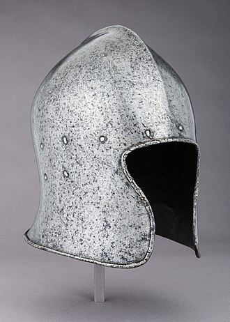 Barbute - Italian barbuta, 1470-80, of the more open-faced form with an arched opening, the Metropolitan Museum of Art