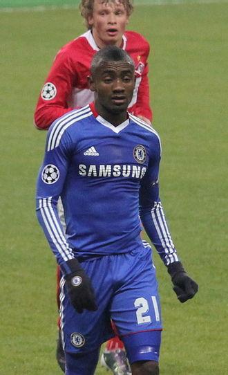 Salomon Kalou - Kalou playing against Spartak Moscow in 2010.