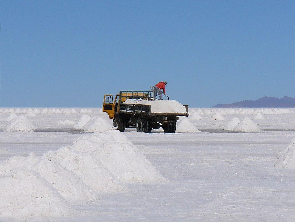 Salt production Uyuni