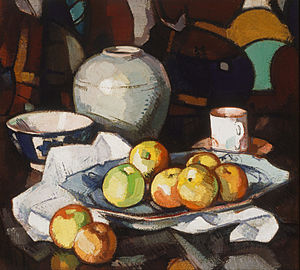 Samuel Peploe - Still life: apples and jar, circa 1912–16, Art Gallery of New South Wales