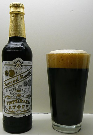 Samuel Smith Brewery - A bottle of Imperial Stout, a vegetarian beer