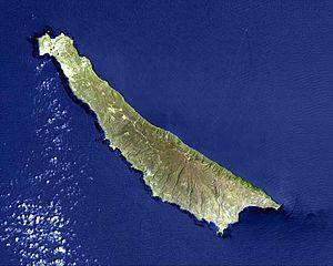Satellite image of San Clemente Island
