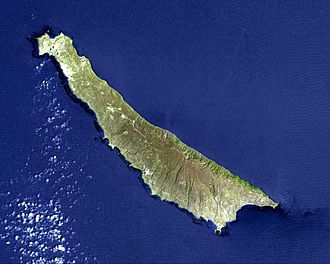 San Clemente Island - Satellite image of San Clemente Island