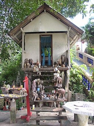 Wat Phra That Doi Chom Thong - Image: San Phra Jao