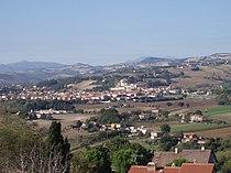 San Lorenzo in Campo - Vista dalla rocca di Castelleone di Suasa 1.JPG