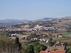 Livia della Rovere - The view over San Lorenzo in Campo from Castelleone di Suasa, where Livia was raised and spent the latter part of her life in reclusion.