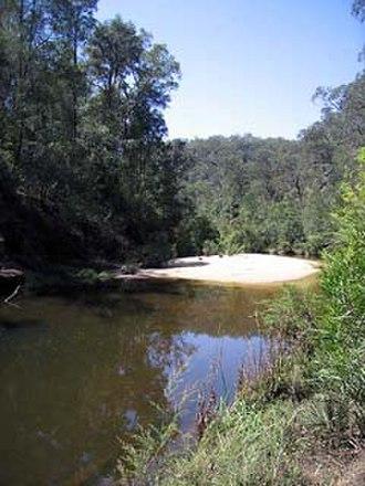 Glenbrook Creek - Sandbank on Glenbrook Creek
