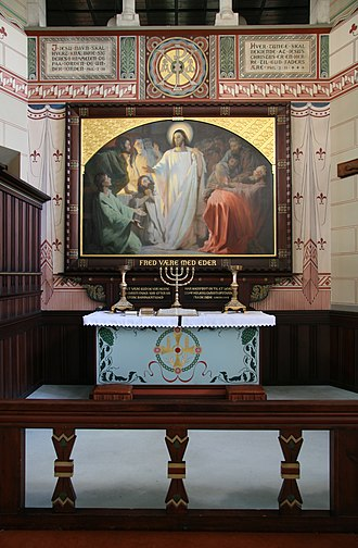 St. Luke's Church, Copenhagen - The altarpiece