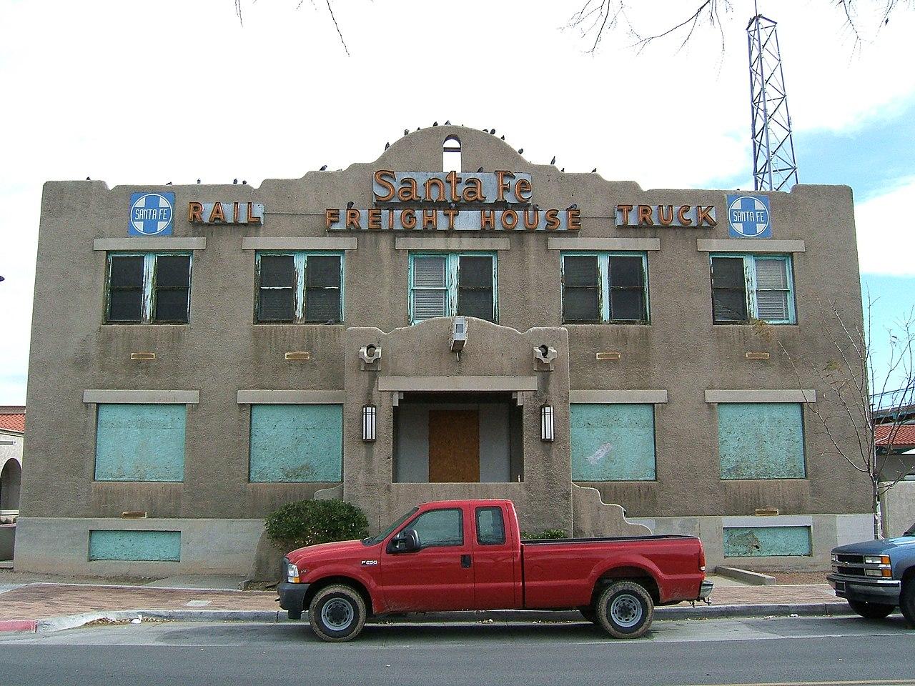 Albuquerque To Santa Fe >> File:Santa Fe Freight House, Albuquerque.jpg - Wikimedia Commons