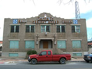 Downtown Albuquerque - Old Santa Fe Railroad Freight House in 2007.