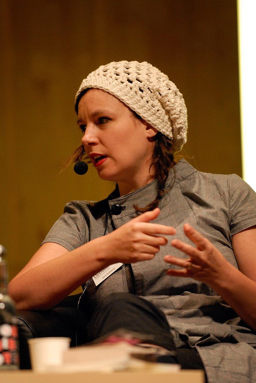 Sara Stridsberg, vinnare av Nordiska radets litteraturpris 2007 pa seminariet, forfattaren i boken, pa bokmassan i Goteborg 2007-09-29 (1)