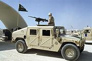 مدرعة هامفي تابعة للقوات البرية الملكية السعودية.