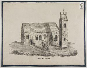Sauwerd - Old church in Sauwerd, shortly before it was razed