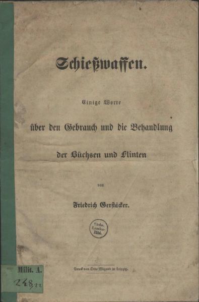 File:Schießwaffen-Gerstaecker-1848.djvu