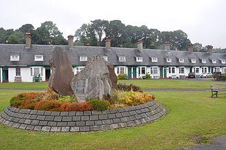 "Lamlash - ""Hamilton Terrace"" and the Clearances Monument"