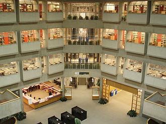 Keele Campus (York University) - Interior view of Scott Library