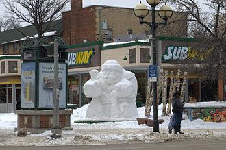 Festival du Voyageur - Snow sculpture from Festival 2013
