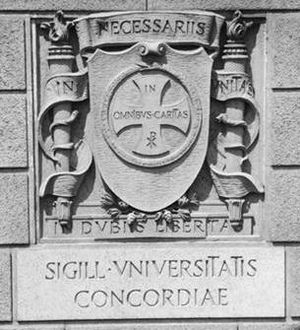 Union University (New York) - The Seal of Union University on the Exterior Wall of the University Club of New York in Manhattan