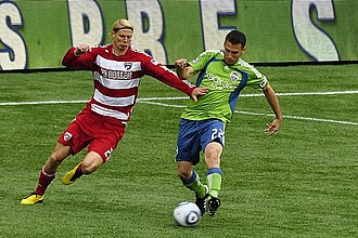 FC Dallas - Brek Shea in action for FC Dallas in 2010 against Seattle Sounders FC