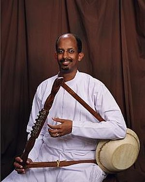 Culture of Ethiopia - A krar player.