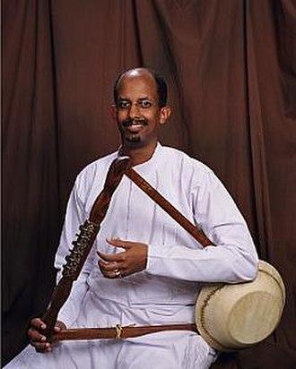 Culture of Ethiopia - A krar player.