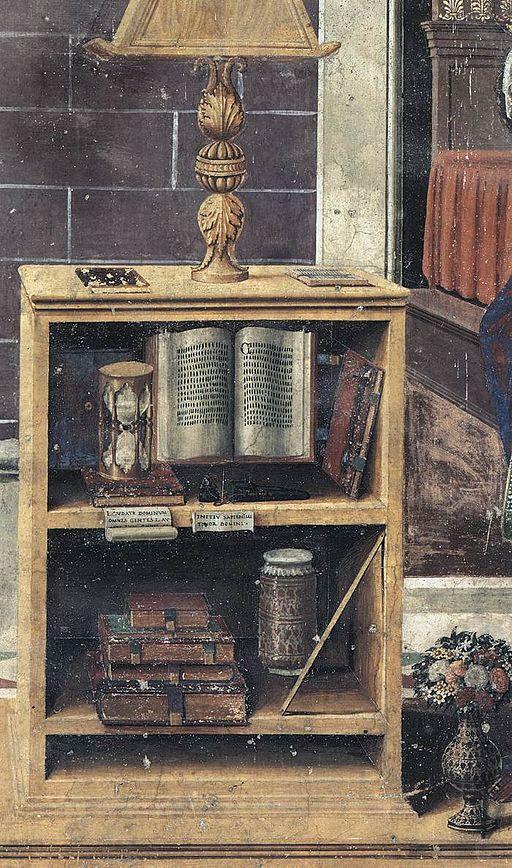 Sebastiano Mainardi, Annunciazione, (part.), circa 1482