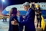 Secretary John Kerry Greets Deputy Chief of the U.S. Mission to the Organization for Security and Cooperation in Europe Kate Byrnes After Deplaning at Vienna International Airport (26774170220).jpg
