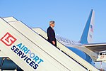 Secretary Kerry Deplanes after Arriving at Warsaw Chopin Airport in Poland to join President Obama at the NATO Summit (28168406565).jpg