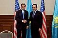 Secretary Kerry Shakes Hands With Kazakhstan Prime Minister Massimov in Astana (22697743995).jpg