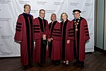 Secretary Kerry Stands With Northeastern University President Aoun and Honorary Degree Recipients McCarthy, Bolden, and Hockfield Before Delivering the Commencement Address for Northeastern's Class of 2016 in Boston (26248145283).jpg