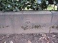 Sefton Park - perimeter wall bench mark ^2 - geograph.org.uk - 1711712.jpg