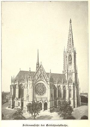 Gedächtniskirche (Speyer) - Gedächtniskirche in 1904