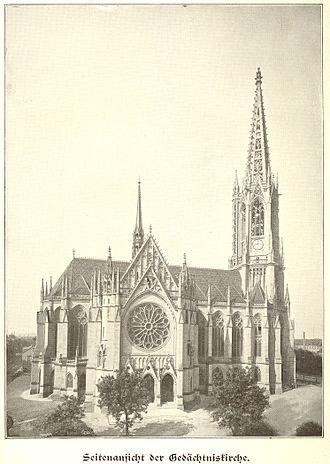 Gedächtniskirche, Speyer - Gedächtniskirche in 1904