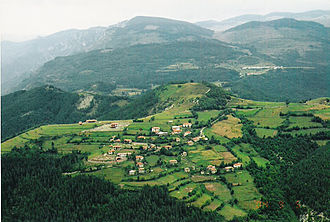 Plovdiv Province - View of the Rhodopes near the village of Vrata in the south of the province