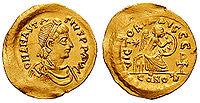 Semissis (medio sólido) de Anastasio I.