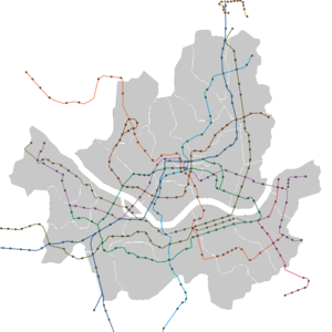 Seoul Metro - Image: Seoul Metro Lines 1 to 9 and Uijeongbu