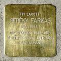 Serény Farkas stolperstein (Budapest-13 Balzac u 20).jpg