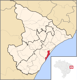 Location of Aracaju