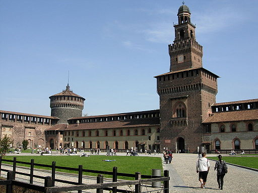Sforza Castle Milan from internal Court yard