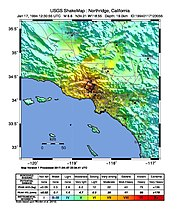 Shake Map Northridge 1994