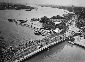 Waibaidu Bridge - Waibaidu Bridge in the 1930s, photographed by the famous photographer Lang Jingshan