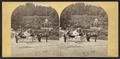 Sharon Springs, N.Y. (View of women on horse-drawn carts. Magnesia Temple in background.), from Robert N. Dennis collection of stereoscopic views.png