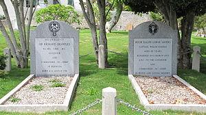 Richard Sharples - Graves of Richard Sharples and Hugh Sayers, St. Peter's Church graveyard, St. George's, Bermuda (2011)