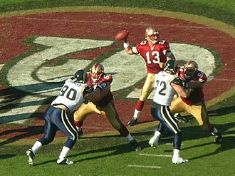 Shaun Hill - Hill passes against the Rams on November 16, 2008