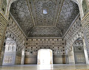 Hill Forts of Rajasthan - Image: Sheesh Mahal, Amer Fort