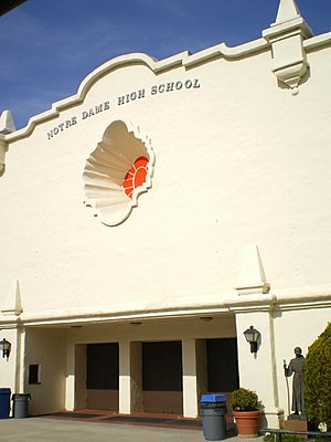 Notre Dame High School (Sherman Oaks, California) - Image: Sherman Oaks Notre Dame HS