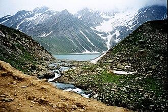Sheshnag Lake - Image: Sheshnag Lake Amarnath Yatra Series