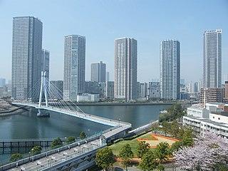 Shinonome, Tokyo town located in Koto-ku, Tokyo
